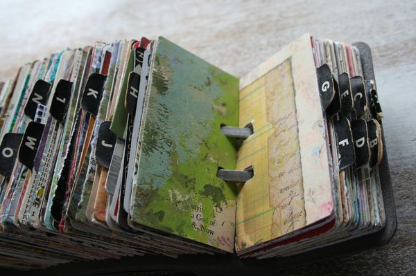 Vintage rolodex scrapodex collage journal (19)