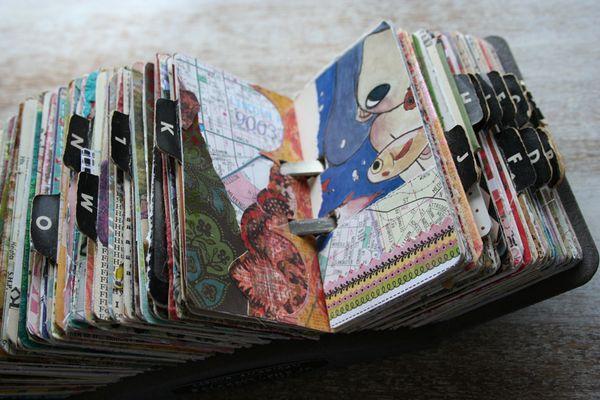 Vintage rolodex scrapodex collage journal (14)