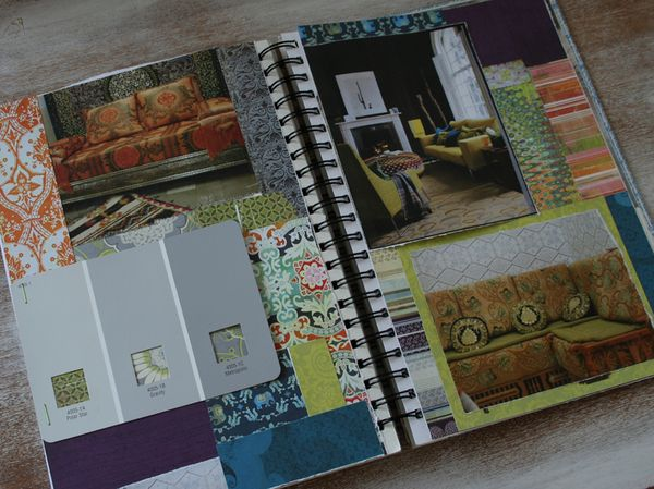 Living room inspiration book page