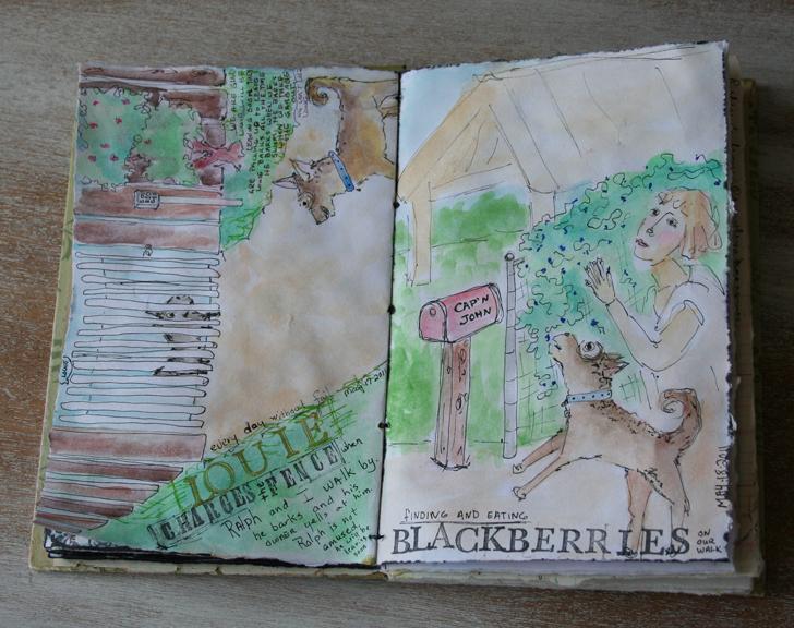 Sketchbook journal blackberries