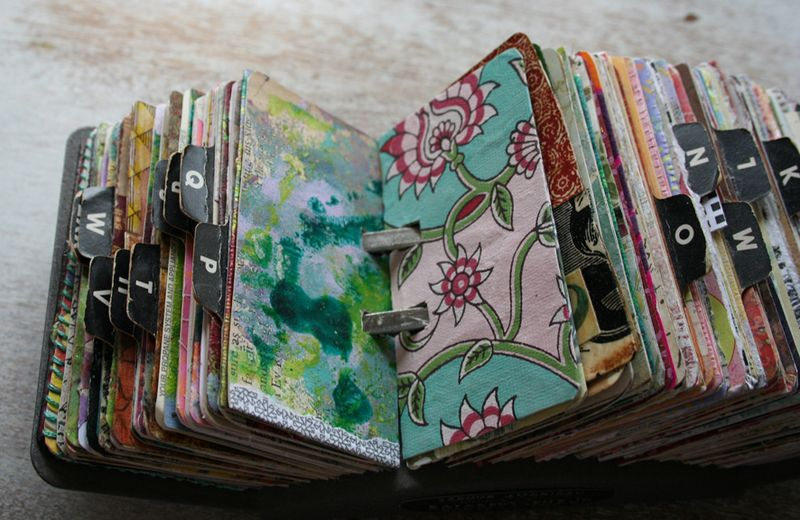 Vintage rolodex scrapodex collage journal (7)