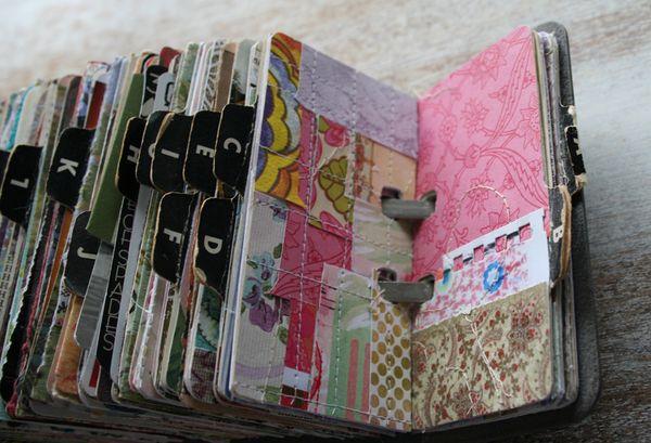 Vintage rolodex scrapodex collage journal (22)