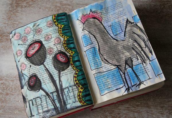 Withdrawal sketchbook rooster