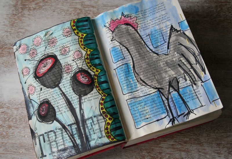 Withdrawal sketchbook rooster