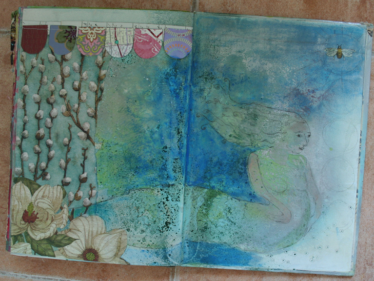 Mermaid journal page a