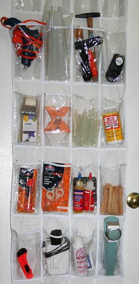 Craft storage solution over the door organizer