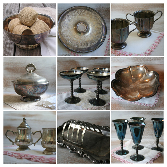 Etsy mosaic sale silverplate