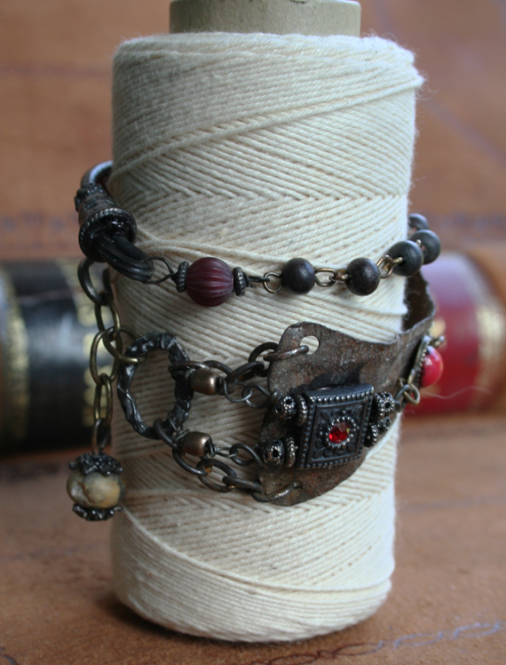 Jeweled vambrace wrap bracelet cc