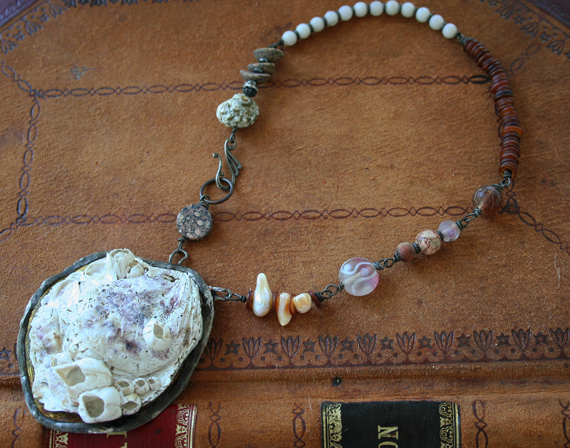 Shipwreck mermaid necklace c