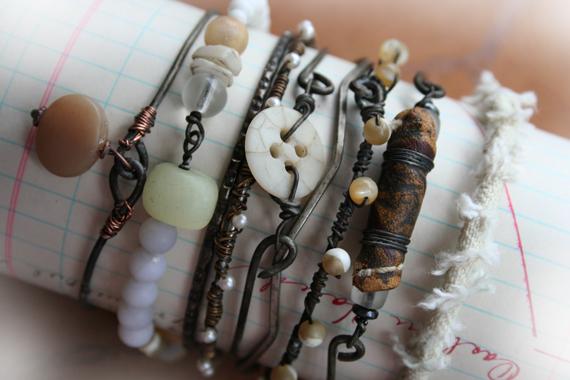 Winter whites stack bracelets c