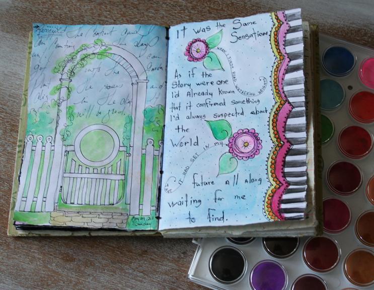 Daily sketchbook watercolor flowers