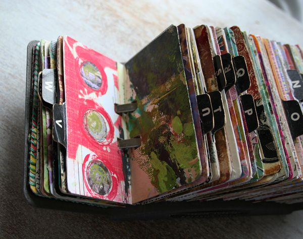 Vintage rolodex scrapodex collage journal (2)