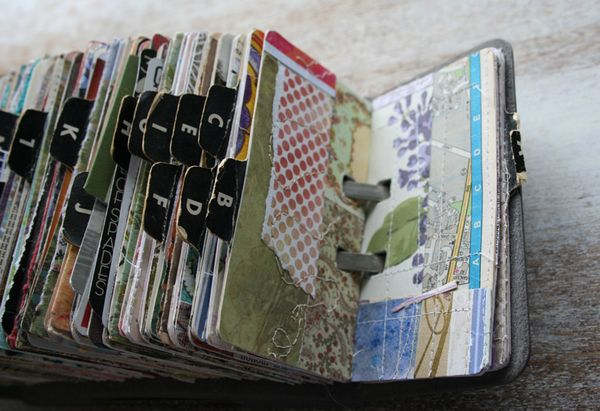 Vintage rolodex scrapodex collage journal (23)