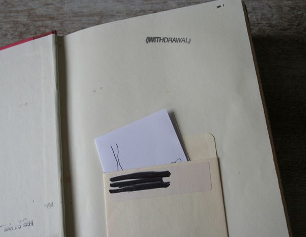 Withdrawal sketch book