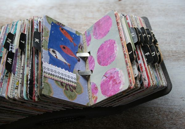 Vintage rolodex scrapodex collage journal (15)