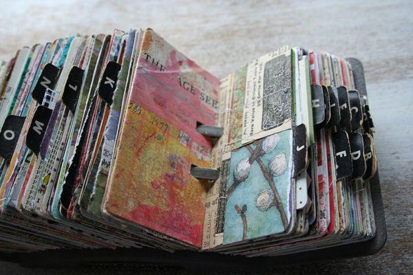 Vintage rolodex scrapodex collage journal (16)