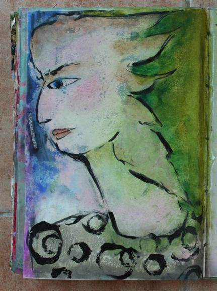 Wallpaper journal self portrait