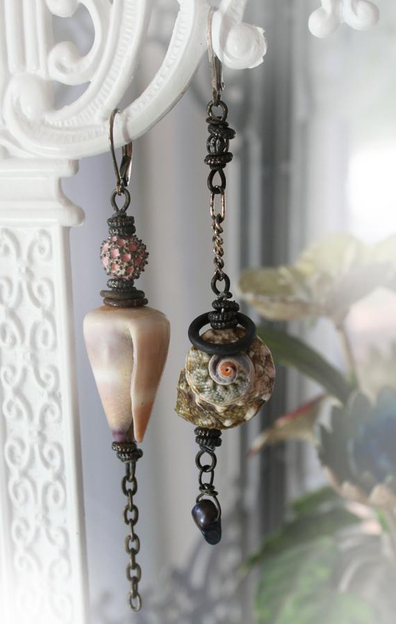 Beachcomber mermaid earrings