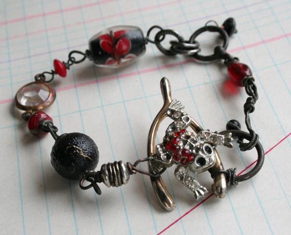 Good luck frog bracelet b