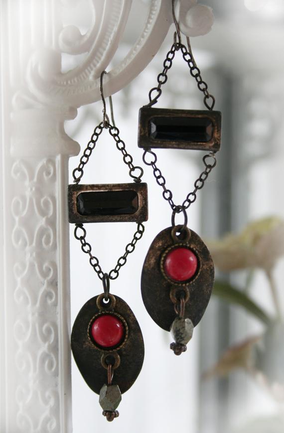 Horizontal hold tribal gypsy earrings (5)