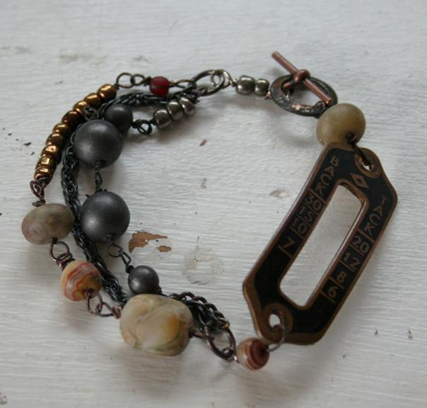 Back tack quilt guild bracelet