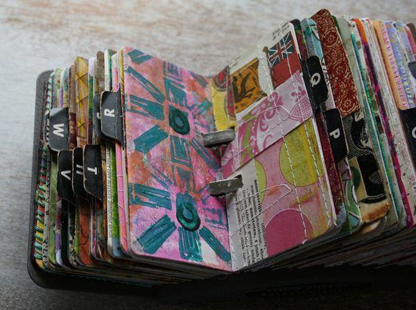 Vintage rolodex scrapodex collage journal (5)