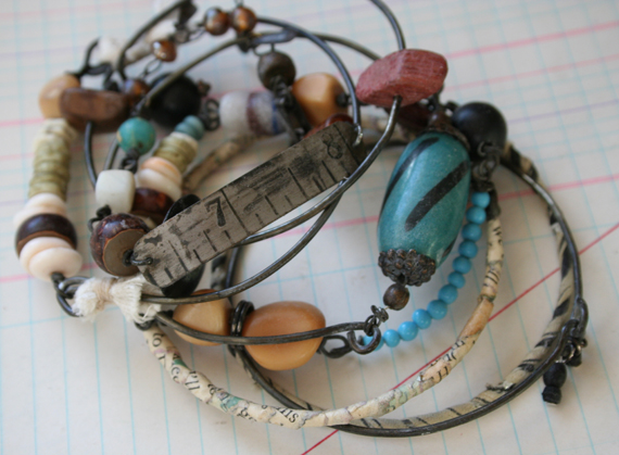 Numbers talisman bracelet stack