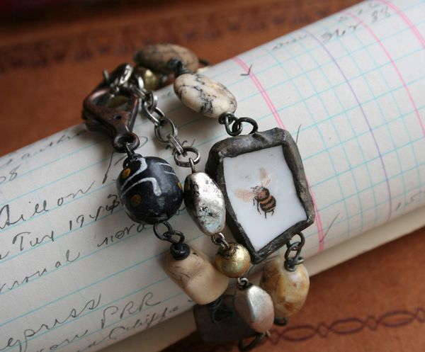 Little bee wrap bracelet choker necklace c