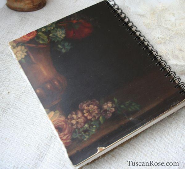 Old world rose journal