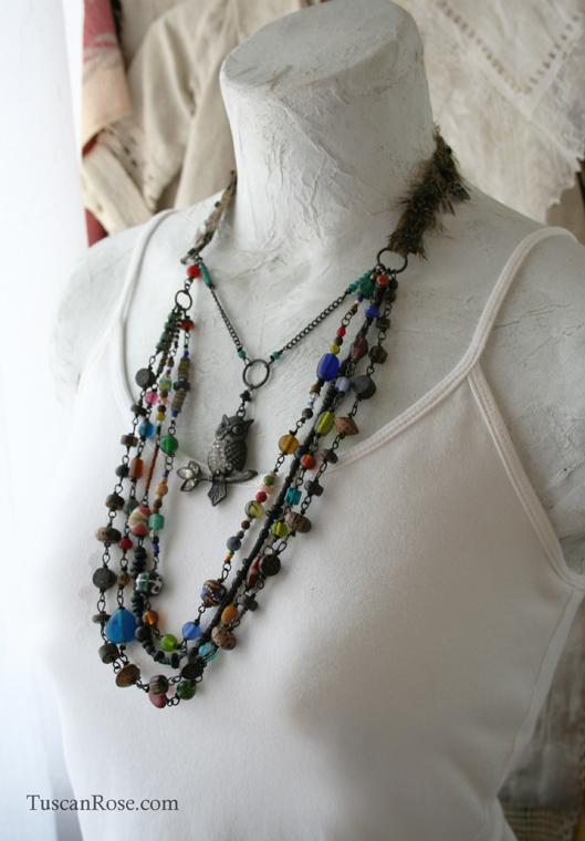 Owl amulet necklace e