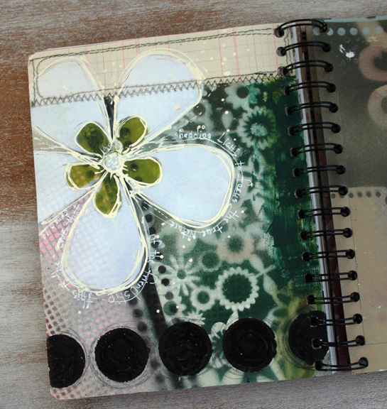 Spray paint journal page a