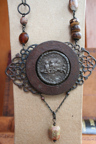 Urban Bird Salvage talisman necklace (6)