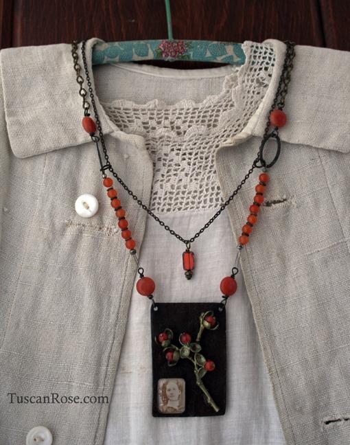 Bittersweet assemblage gypsy flower necklace jewelry (1)