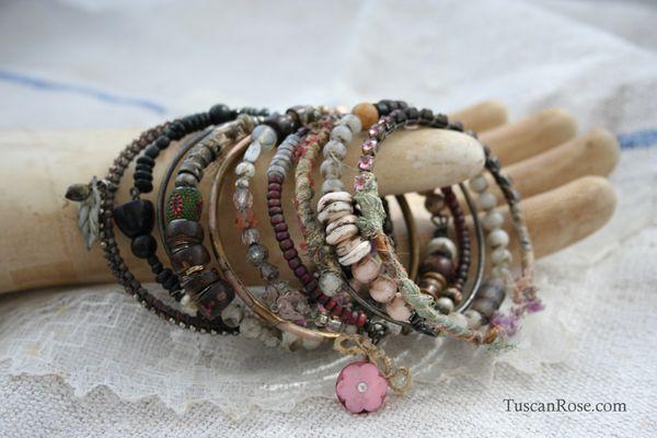 Bangle stack 42 gypsy bracelet jewelry (4)
