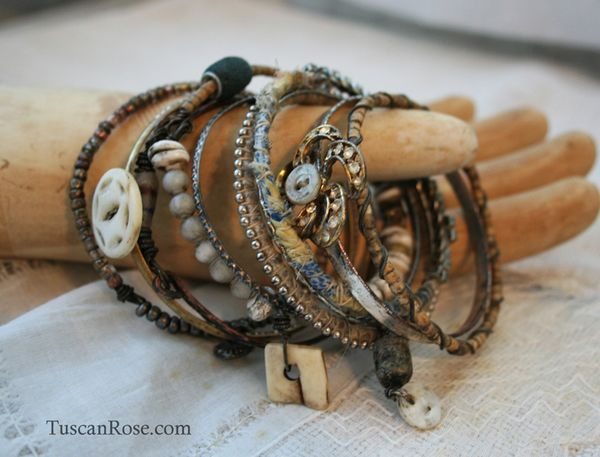 Bangle stack 38 rhinestone urban gypsy jewelry (3)
