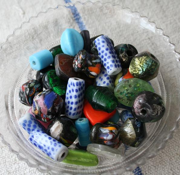 Large lampwork beads e
