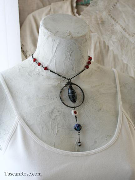 Necklace 142 urban gypsy evil eye choker c