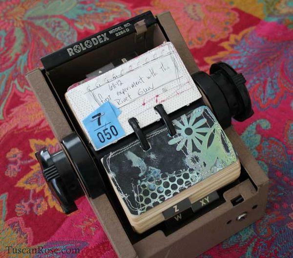 Rolodex scrapodex card