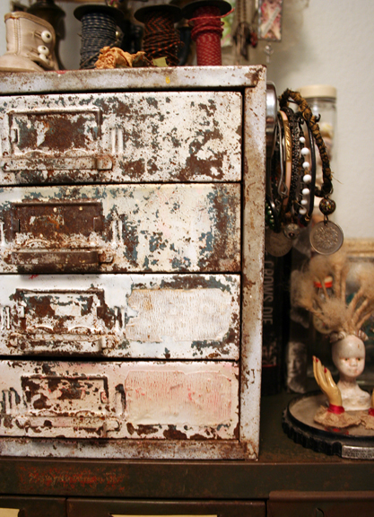 Studio chippy white cabinet