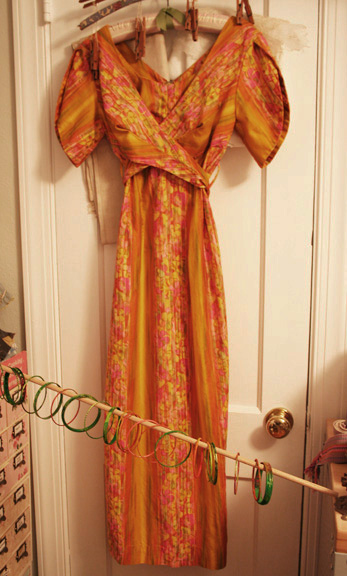 60s mad man orange shift dress
