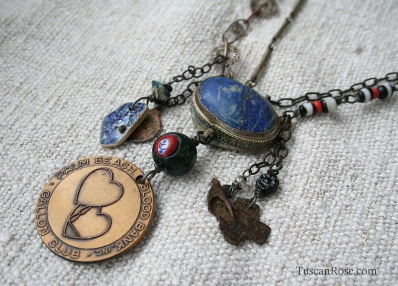 Vampire blood bank necklace a