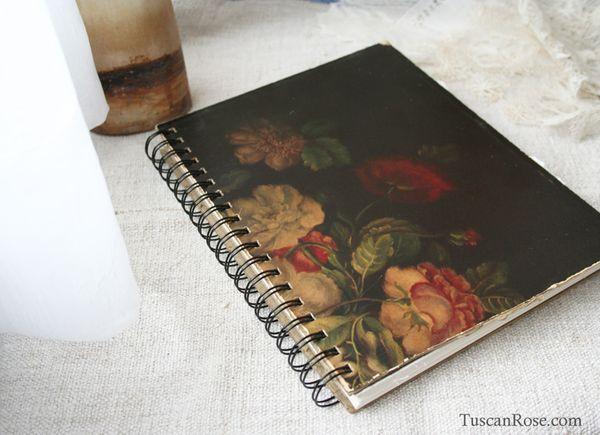 Old world rose journal c