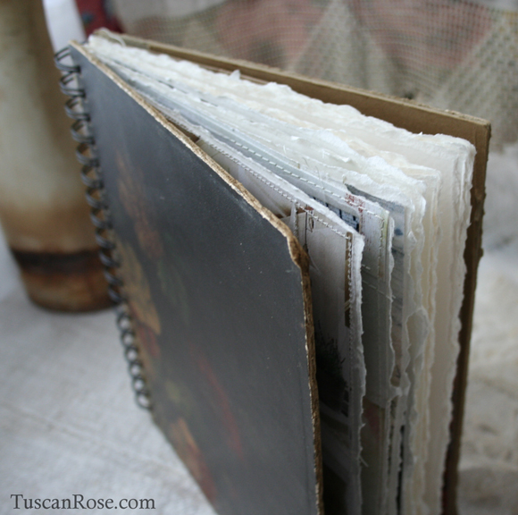 Old world rose journal b