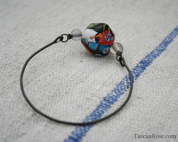 Big bead bangle a