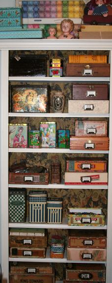 Tall shelf of stuff