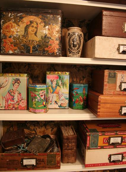 Shelf of stuff