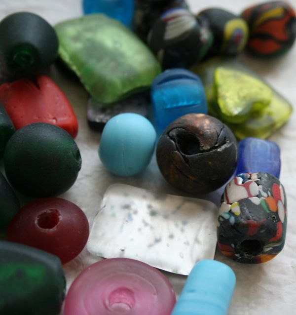 Rough lampwork beads a
