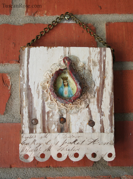 Sacred heart hanging collage a