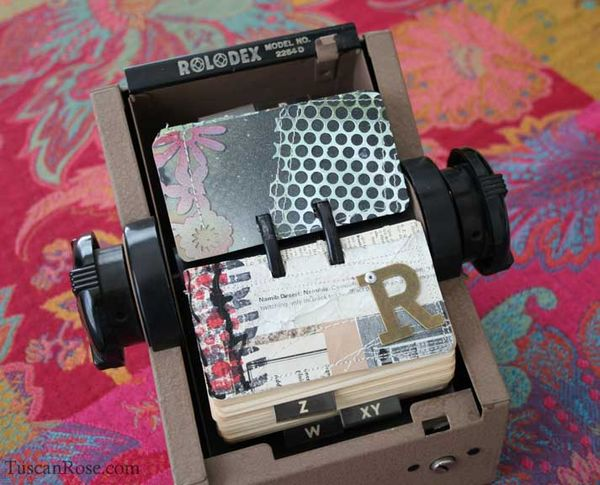 Rolodex scrapodex card b