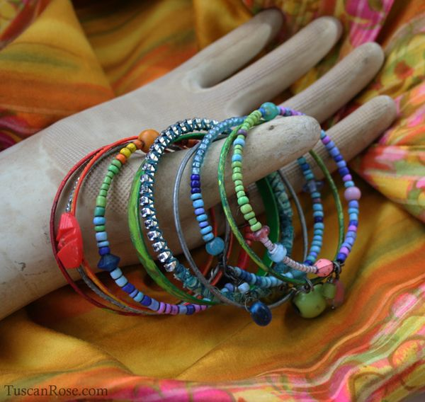 Beachcomer bangle stack retro gypsy bracelets a